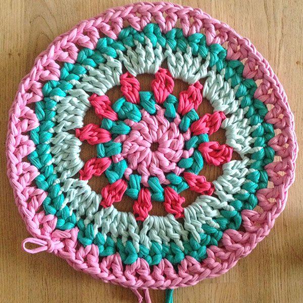 Spring Princess Rug bymami hæklet mandala tæppe crochet rug