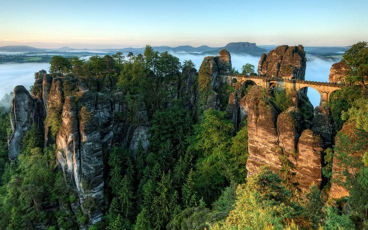 ♥Secret Places, Mothers Nature, Rocks Formations, National Parks, Germany, The Bridges, Travel Destinations, Bastei Bridges, European Travel