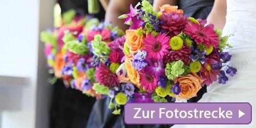 Blumen passend zur Hochzeitsfarbe  Flower Power und Deko  Pinterest