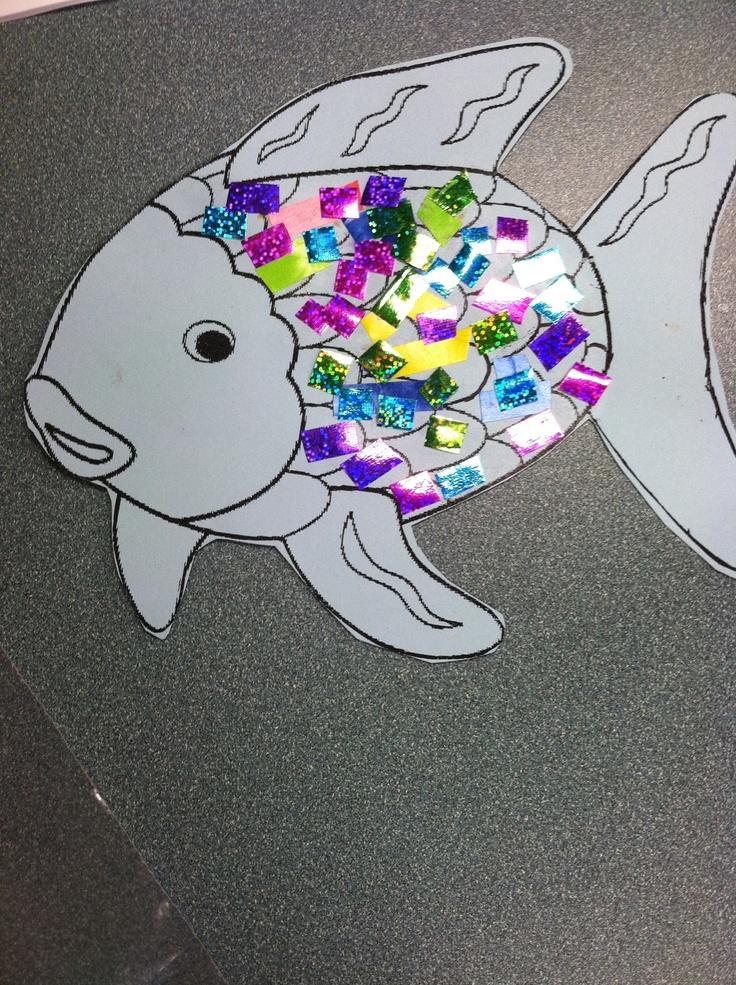 Rainbow fish craft arts crafts school pinterest for Rainbow fish activities
