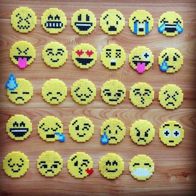 Emojis perler beads by chittyqy