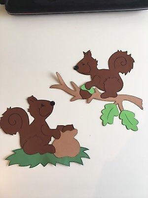 Fensterbild Tonkarton Eichhörnchen Herbst Dekoration Fensterdeko