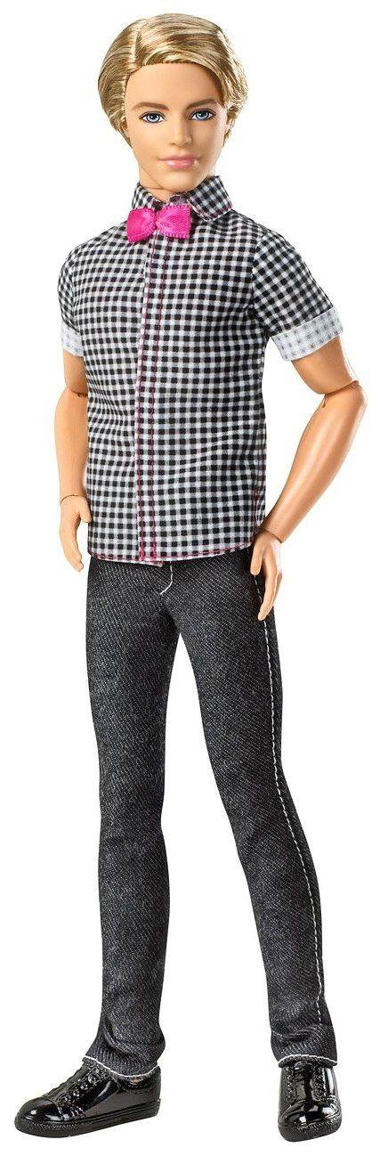 Barbie Fashionista Ken Doll - Blonde - Free Shipping: Fashionista Ken, Ken Checkered, Shirts Dolls, Fashionista Dolls, Checkered Shirts, Barbie Dolls, Ken Fashionista, Ken Dolls, Barbie Fashionista