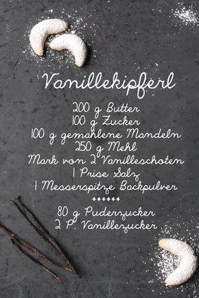 Leckeres und einfaches Rezept für Vanillekipferl / Vanillehörnchen