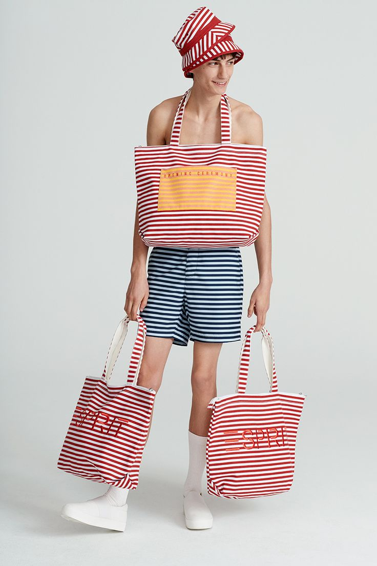 #Esprit #EspritxOC #OpeningCeremony #80s #california #stripes #beachwear #bag