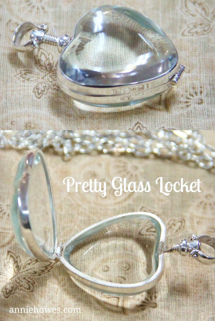 Lovely glass locket. I could create something fun with this. Great gift for my niece.