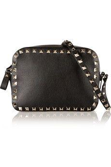 Valentino The Rockstud leather shoulder bag   NET-A-PORTER