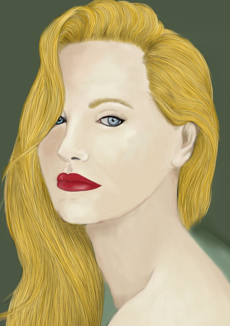 Hattu - Woman Portrait - Digital drawing