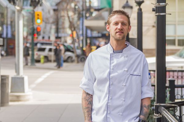 Chef Andrew Gass on 8th Ave, Calgary
