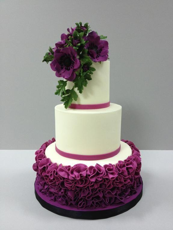 Love the colours! Ruffle Cake - via @Craftsy: