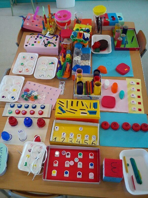 Els nostres moments a l'aula d'infantil: Material educativo reciclado con ayuda de padres. Explicación de cada uno en el blog.