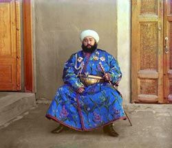 """Prokudin-Gorskii, Sergei Mikhailovich, 1863-1944, photographer. """"The Bukhara Emir"""". Prints and Photographs Division, Library of Congress, Reproduction number: LC-P87-8086A-2"""