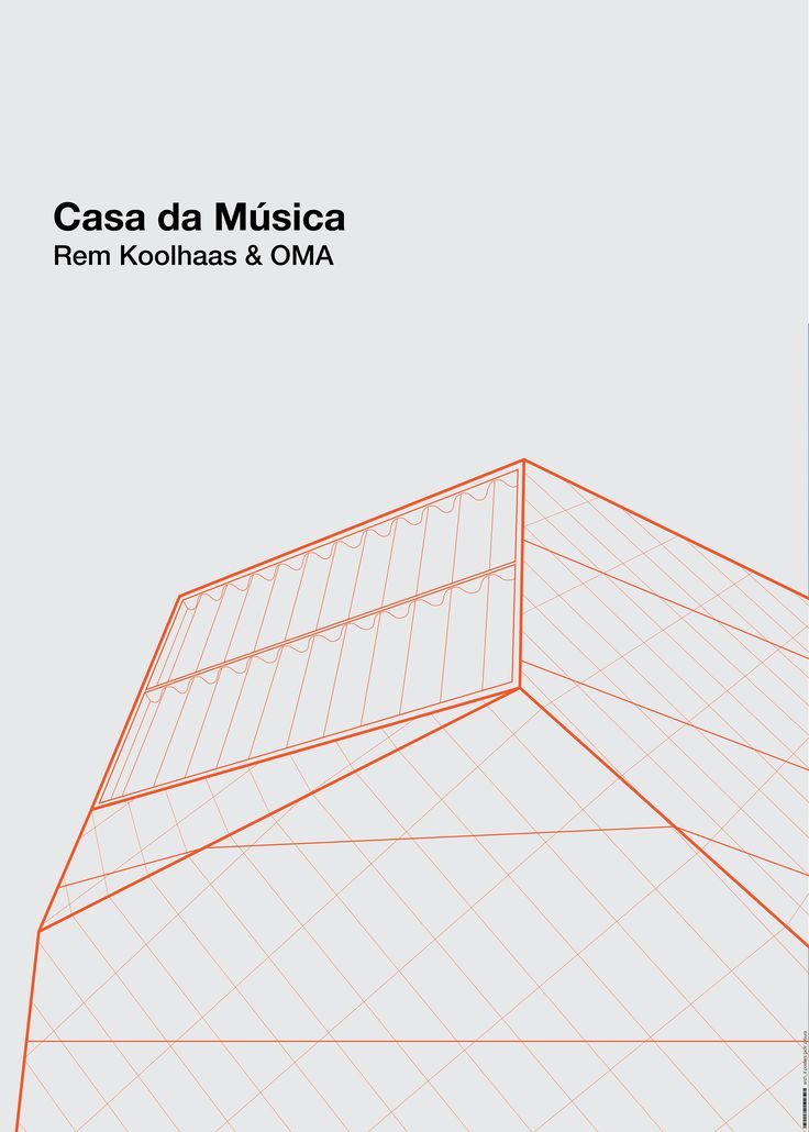 arch_it piotr zybura architectural poster. Casa da Musica by Rem Koolhaas & OMA.