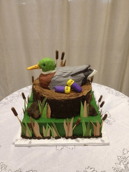 Duck Hunting  Cake by SugarcoatedByM