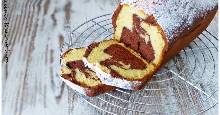 Kuchenklassiker, Marmorkuchen mit Creme Fraiche, Marmorkuchen in Kastenform, schneller Marmorkuchen, saftiger Marmorkuchen