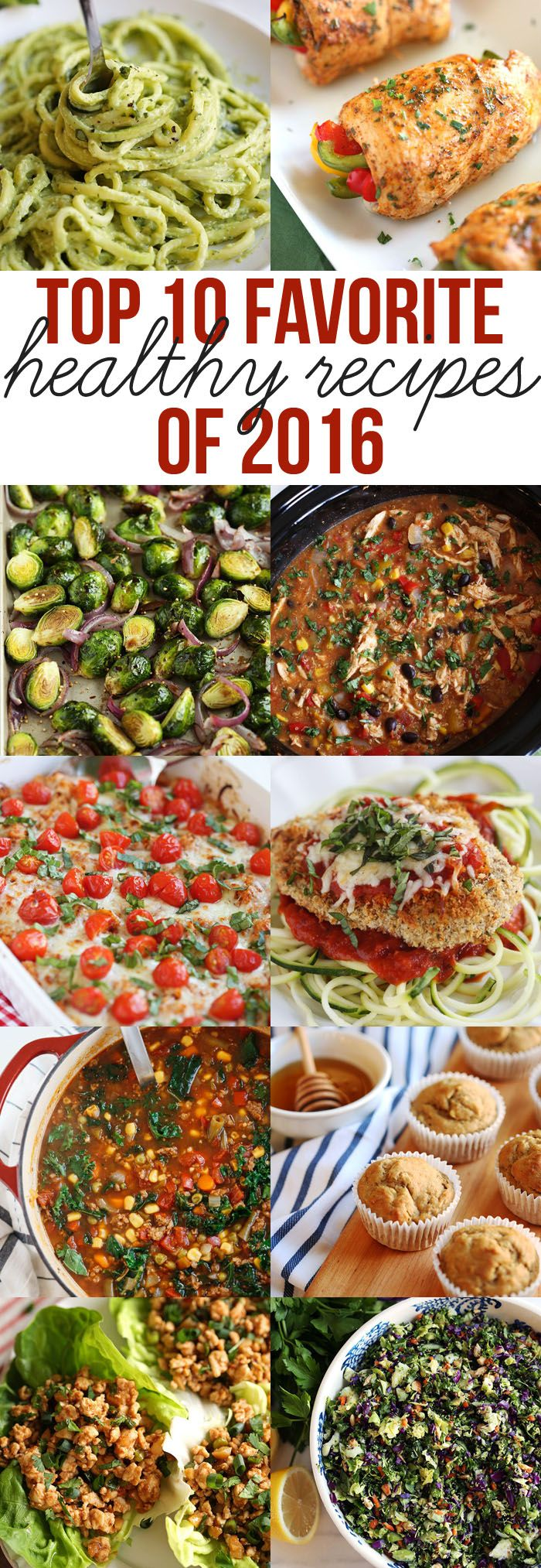 Check out the top 10 most popular healthy recipes featured on Eat Yourself Skinny in 2016 that are a MUST to try in the New Year!