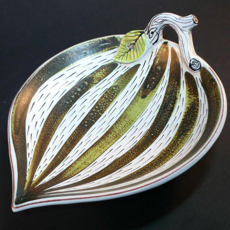 Stig Lindberg Gustavsberg • Keramik Schale • about 1940 Handpainted Fajence bowl