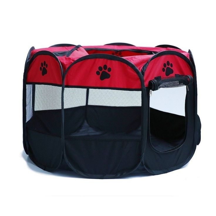 Small Dog Cage Portable Folding Playpen Tent Travel Durable Crate Red/Black | Pet Supplies, Dog Supplies, Cages | eBay!