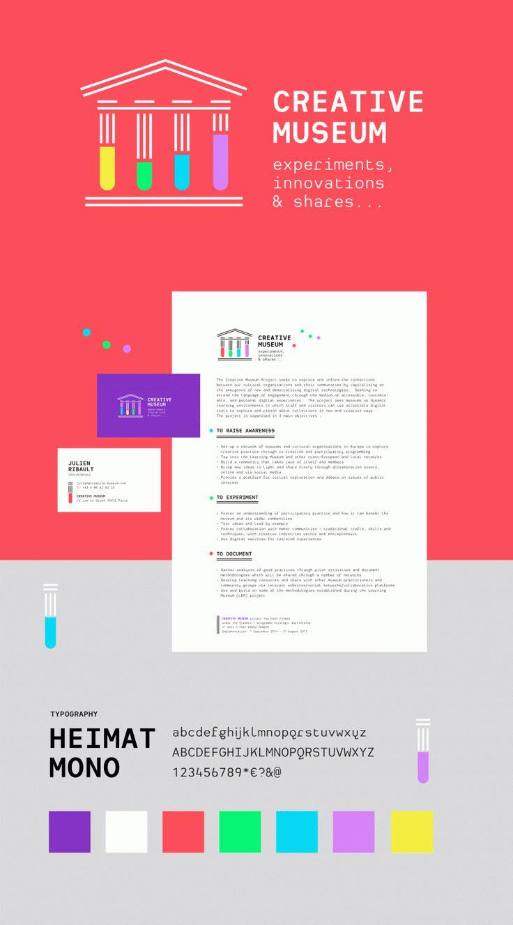 """identite-creative-Museum Projet d'identité visuelle pour """"CREATIVE MUSEUM"""" http://www.grapheine.com/portfolio/creative-museum … #branding #museum"""