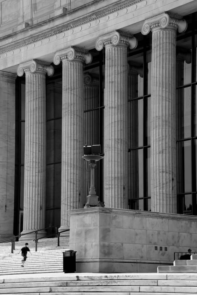 Chicago - Field Museum I caught this young guy running up the stairs of the Field Museum which is one of the largest natural history museums in the world. Opened to the public in 1920, this neoclassical structure has an interesting history. If you're inclined to read, below is a fascinating document and pictures from the
