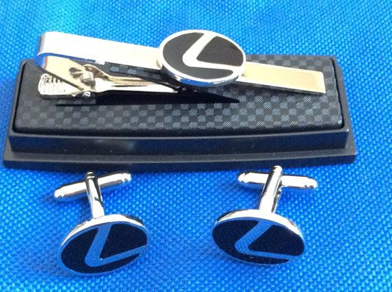 Lexus Tie Clip with Matching Cufflinks