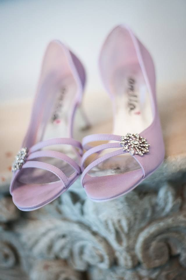 Pretty in Pink wedding shoes - we love! - GF Bridal Couture