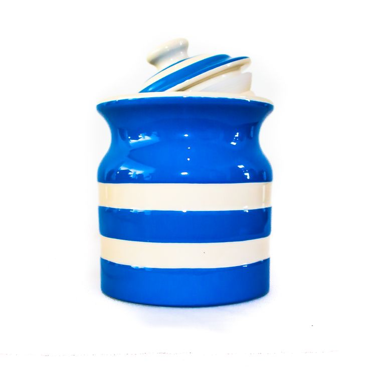 Cornishware Striped Storage Jar; the perfect place for keeping all those yummy treats!
