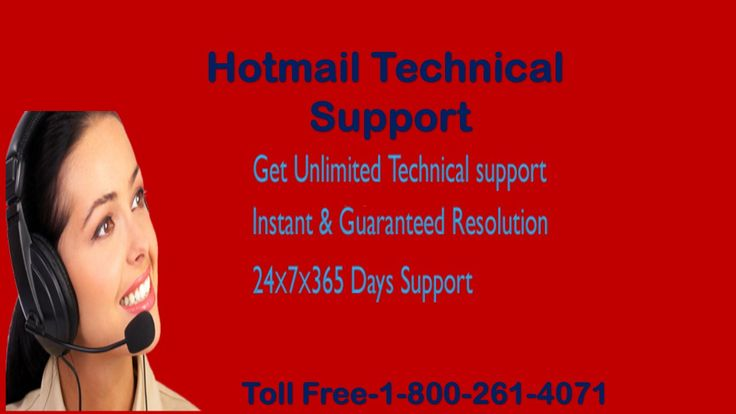 Hotmail Technical Support- 1-800-261-4071 We are basically third party technical support team available 24/7 with amazing and wonderful support for our users across the globe.  Call us Toll Free-1-800-485-4057 Visit: - http://hotmailsupport.co/