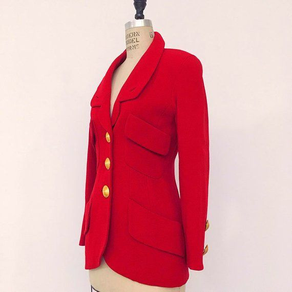 Short Sleeve with Cuffs Vintage Bolero Small Medium Vintage Red Jacket Vintage Crop Vintage 70s Red Double Knit Short Jacket