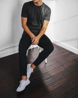 basics // white sneakers, denim, tshirt, menswear, mens style, mens fashion