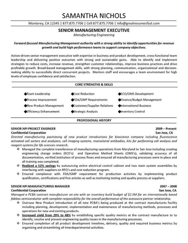 C Suite Resume Examples Resume Examples Engineering Resume Good Resume Examples Job Resume Samples