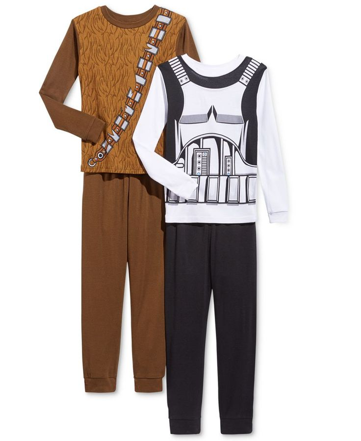 Star Wars 4-Pc. Star Wars Chewie & Stormtrooper Pajama Set, Little Boys (2-7) & Big Boys (8-20)