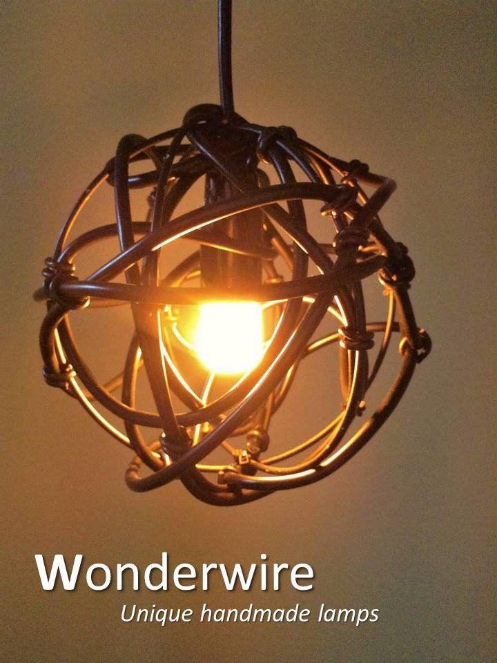 Een persoonlijke favoriet uit mijn Etsy shop https://www.etsy.com/listing/275674400/the-wire-15cm-small-pendant-lamp