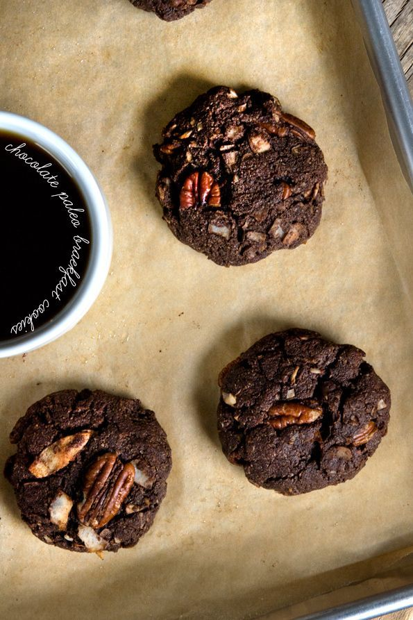 Chocolate Paleo Breakfast Cookies - Great recipe but I would substitute the sugar for a natural alternative sugar like Just Like Sugar, or Stevia, Xylitol, or Erythritol so as not to spike blood sugar.