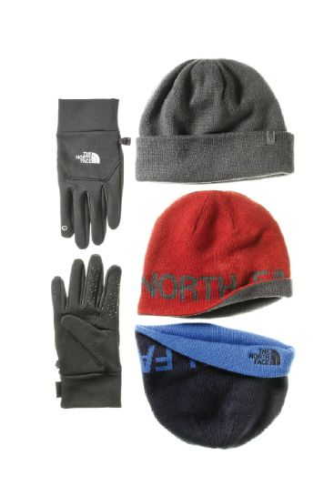 The North Face  Gloves and hats that will come in handy whether he s  commuting to work or at home shoveling snow  d2fc1a6b0a6