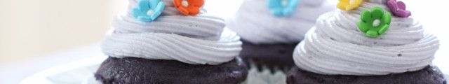 Purple Velvet Cupcakes   Inspired by Charm