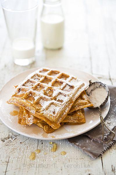 Pumpkin waffles ✿⊱╮