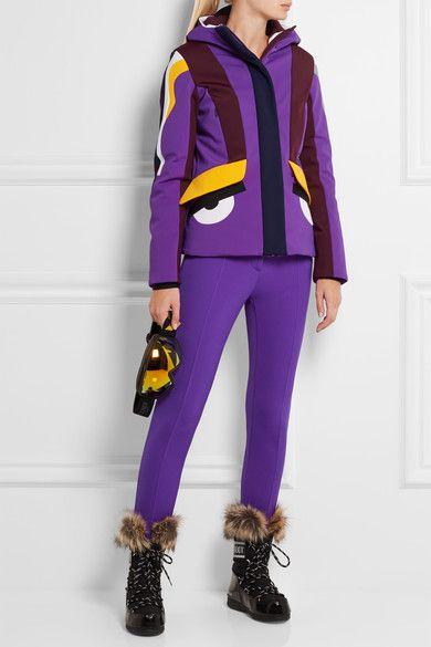 Fendi - Tech-jersey Ski Leggings - Purple - IT
