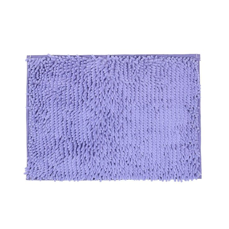Home Bedroom Chenille Anti-slip Floor Rug Mat Doormat Purple 57cm x 40cm