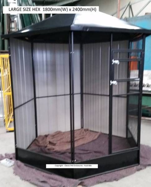 TOP QUALITY LARGE HEX AVIARY POWDER COATED GREEN or BLACK | Pet Products | Gumtree Australia Darebin Area - Preston | 1147555577