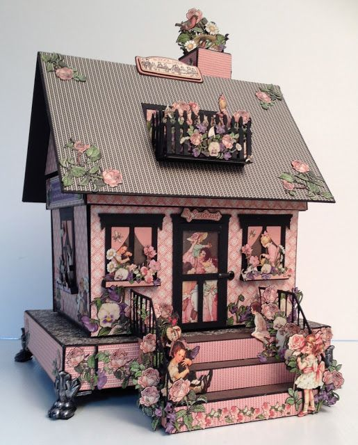 annes papercreations: Graphic 45 Children`s Hour Boxed House Mini Album by Anne Rostad