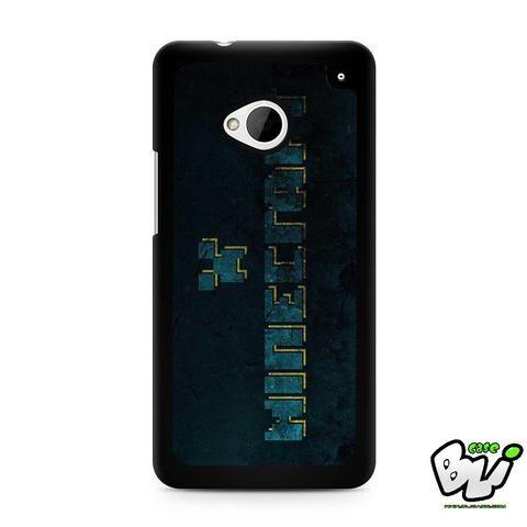 Blue Minecraft Logo HTC G21,HTC ONE X,HTC ONE S,HTC M7,M8,M8 Mini,M9,M9 Plus,HTC Desire Case