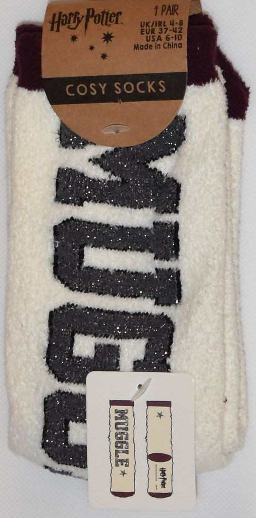 PRIMARK Harry Potter Socks MUGGLE Supersoft Cosy Fuzzy Womens Ladies UK Size 4-8