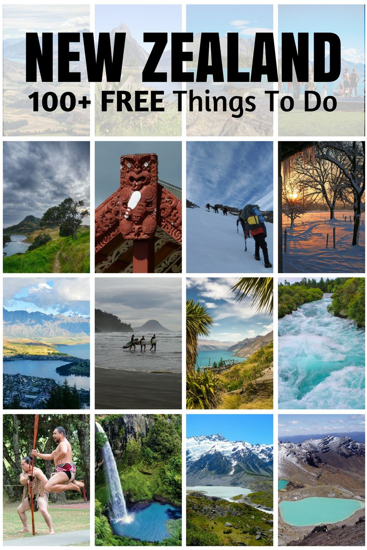 Massive list of free things to do in New Zealand (all corners of the country).