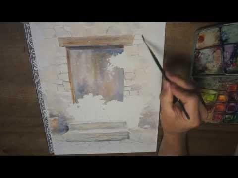 17 meilleures id es propos de paysage l 39 aquarelle sur pinterest peinture aquarelle - Tuto peinture abstraite contemporaine ...