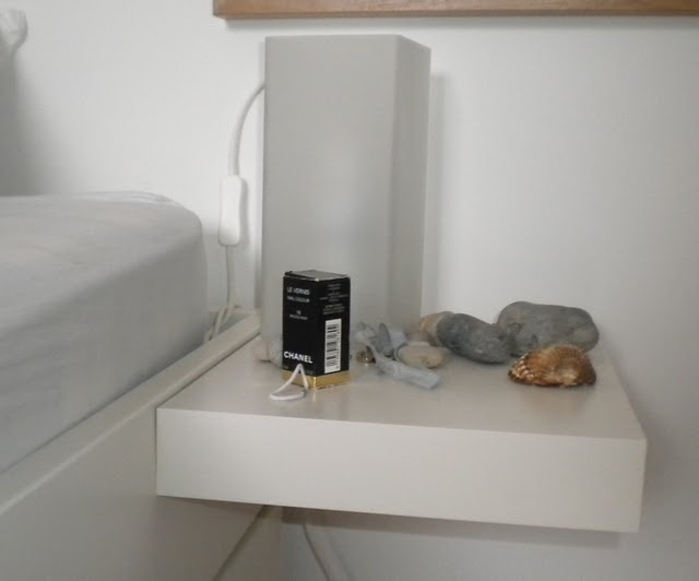 Brimnes Bed With Lack Shelf As Bedside Table Ikea