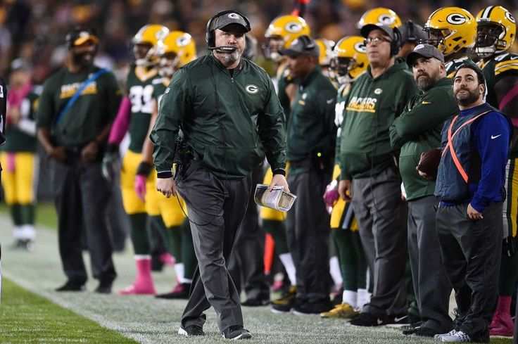 23-16, Packers:    Head coach Mike McCarthy of the Green Bay Packers watches action during a game against the New York Giants at Lambeau Field on Oct. 9, 2016 in Green Bay, Wis.