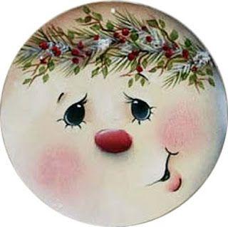 Outro modelo de carinha para enfeitar o Natal!