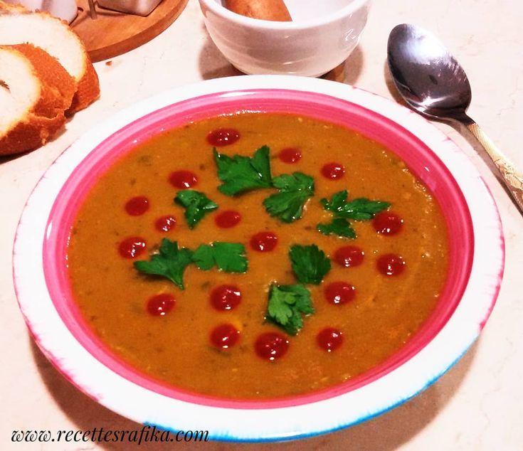 شوربة العدس الاحمر مناسبة كفطور او عشاء في ايام الشتاء الباردة Red Lentil Soup Soup Winter Could Wintersoup Winter Soups Healthy Recipes Red Lentil Soup