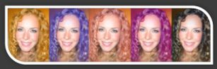 Upload an image and try multiple hair colors.  Pretty cool.